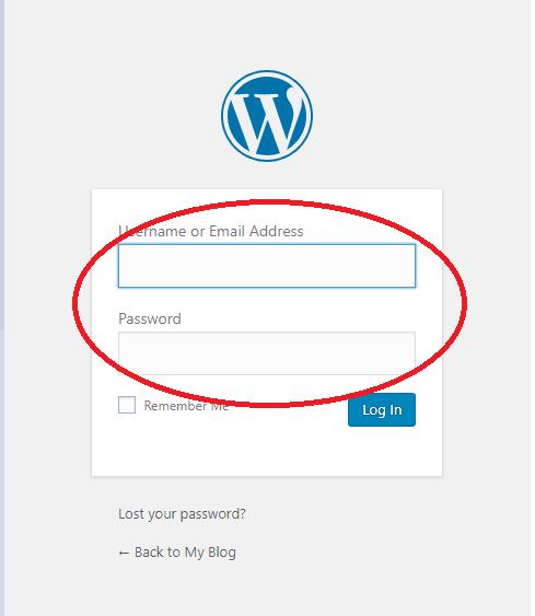 WordPress เข้าสู่ระบบ